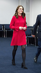 © Licensed to London News Pictures . 06/12/2017 . Manchester , UK . KATE MIDDLETON and Nicky Campbell at a discussion event hosted by the Sesame Street producers . The Duke And Duchess Of Cambridge, Prince William and Kate Middleton, attend the Children's Global Media Summit at the Manchester Central Convention Centre . Photo credit : Joel Goodman/LNP