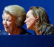 AMSTERDAM - Princess Beatrix and princess Magarita attend the Jumping Amsterdam . COPYRIGHT ROBIN UTRECHT