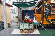 Eastern Europe, Hungary, Budapest, outdoor street market food vendor