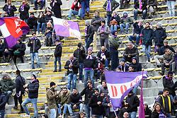 """Foto Filippo Rubin<br /> 04/02/2018 Bologna (Italia)<br /> Sport Calcio<br /> Bologna - Fiorentina - Campionato di calcio Serie A 2017/2018 - Stadio """"Renato Dall'Ara""""<br /> Nella foto: I TIFOSI DELLA FIORENTINA      <br /> <br /> Photo by Filippo Rubin<br /> January 04, 2018 Bologna (Italy)<br /> Sport Soccer<br /> Bologna vs Fiorentina - Italian Football Championship League A 2017/2018 - """"Renato Dall'Ara"""" Stadium <br /> In the pic: FIORENTINA SUPPORTERS"""