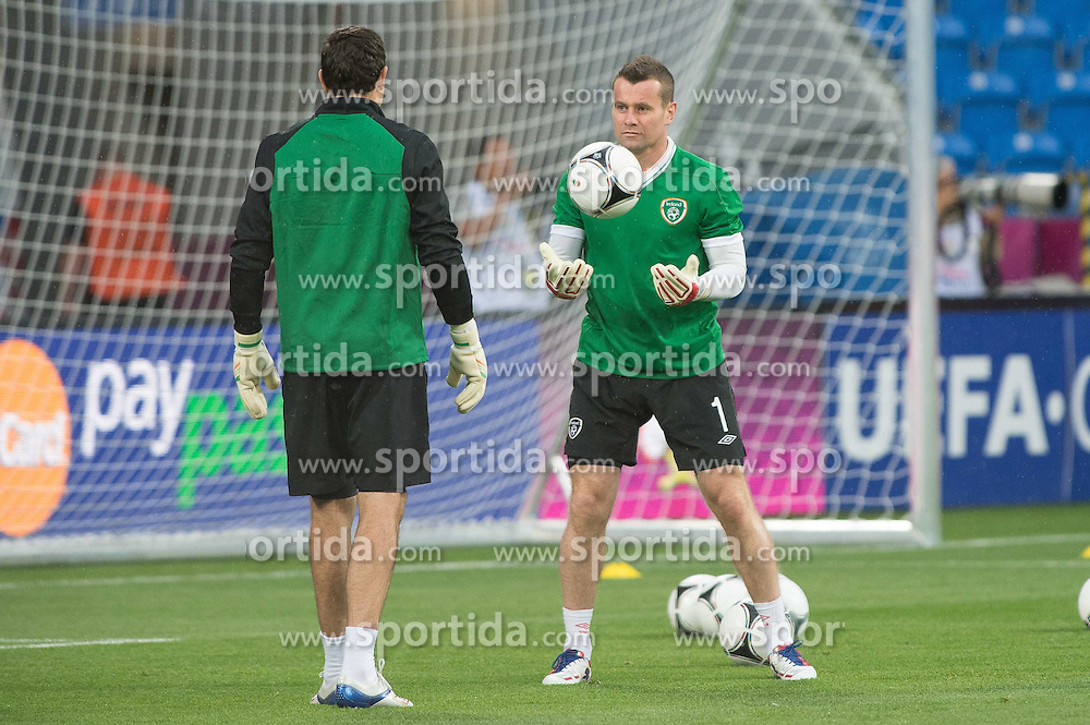 09.06.2012, Stadion Miejski, Poznan, POL, UEFA EURO 2012, Irland, Training, im Bild SHAY GIVEN // during the during EURO 2012 Trainingssession of Ireland Nationalteam, at the stadium Miejski, Poznan, Poland on 2012/06/09. EXPA Pictures © 2012, PhotoCredit: EXPA/ Newspix/ Jakub Kaczmarczyk..***** ATTENTION - for AUT, SLO, CRO, SRB, SUI and SWE only *****