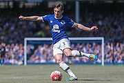 Leighton Baines (Everton) during the Barclays Premier League match between Everton and Norwich City at Goodison Park, Liverpool, England on 15 May 2016. Photo by Mark P Doherty.