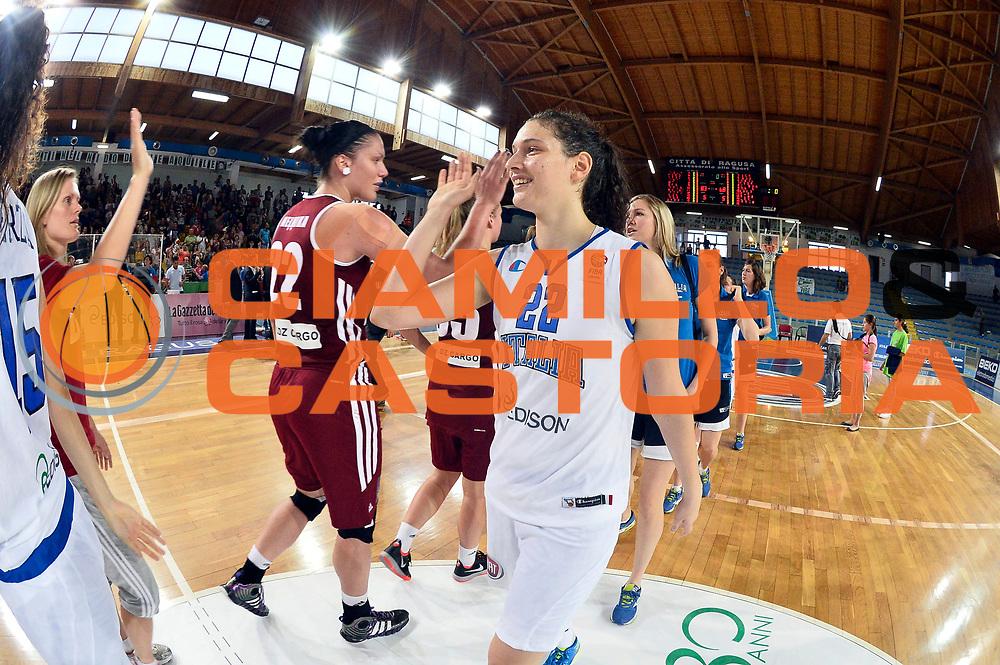 DESCRIZIONE : Ragusa Nazionale Italia Femminile Qualificazione Europeo Femminile Italia Lettonia Italy Latvia<br /> GIOCATORE : Cecilia Zandalasini<br /> CATEGORIA : Esultanza<br /> SQUADRA : Italia Nazionale Femminile Italy<br /> EVENTO : Qualificazione Europeo Femminile<br /> GARA : Italia Lettonia Italy Latvia<br /> DATA : 25/06/2014 <br /> SPORT : Pallacanestro<br /> AUTORE : Agenzia Ciamillo-Castoria/GiulioCiamillo<br /> Galleria : FIP Nazionali 2014<br /> Fotonotizia : Ragusa Nazionale Italia Femminile Qualificazione Europeo Femminile Italia Lettonia Italy Latvia