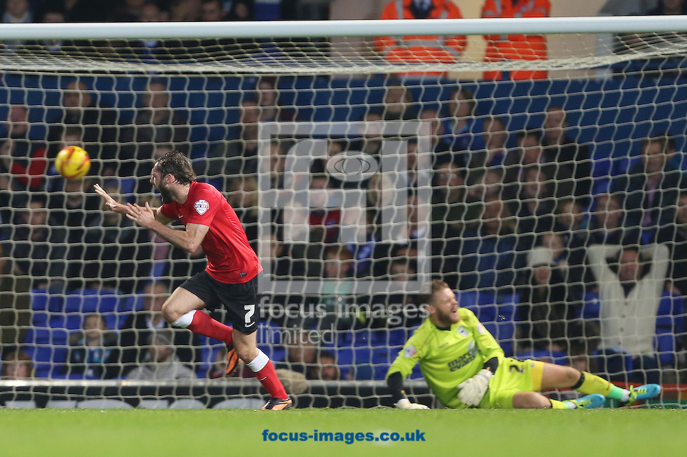 Picture by Richard Calver/Focus Images Ltd +447792 981244<br /> 01/11/2013<br /> James O'Brien of Barnsley celebrates after scoring the equalising goal during the Sky Bet Championship match against Ipswich Town at Portman Road, Ipswich.