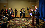 """Republican Presidential candidate Donald Trump, right, debates with Univision reporter Jorge Ramos, left, before Trump's """"Make America Great Again Rally"""" at the Grand River Center in Dubuque, Iowa, Tuesday, August 25, 2015. Ramos, an anchor with the Spanish-language Univision network, was removed from Donald Trump's news conference in Dubuque, Iowa, on Tuesday after the Republican presidential candidate said the journalist was asking a question out of turn. Ramos, who later returned to the televised event, was trying to query Trump about immigration when the real estate mogul told him several times to sit down. REUTERS/Ben Brewer"""