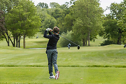 Golf Returns, Thundridge, 13 May 2020 <br /> <br /> Pictured: Golfers return to the course at Hanbury Manor in Hertfordshire as the UK Government lifts the regulations in England.<br /> <br /> (c) Richard Dyson | EdinburghElitemedia.co.uk 2020