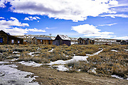 Historic Wooden Buildings in Bodie Ghost Town