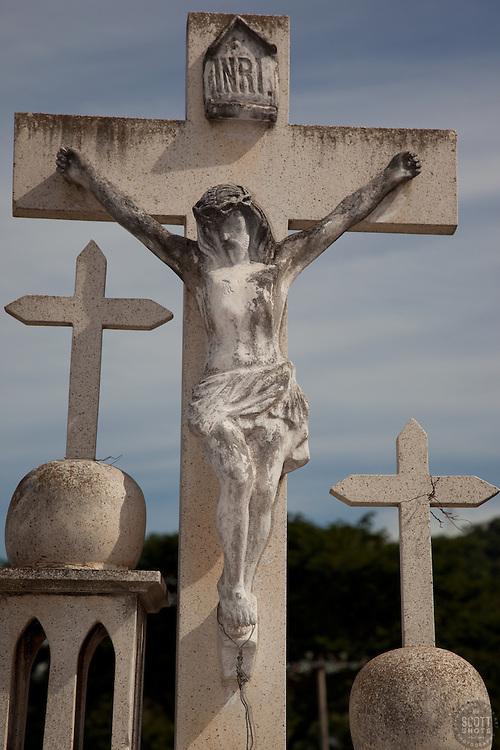 Mexican Cemetery 9 - Photograph taken in El Panteón Cementario, also know as Cementario Viejo or old cemetery, in Puerto Vallarta, Mexico.