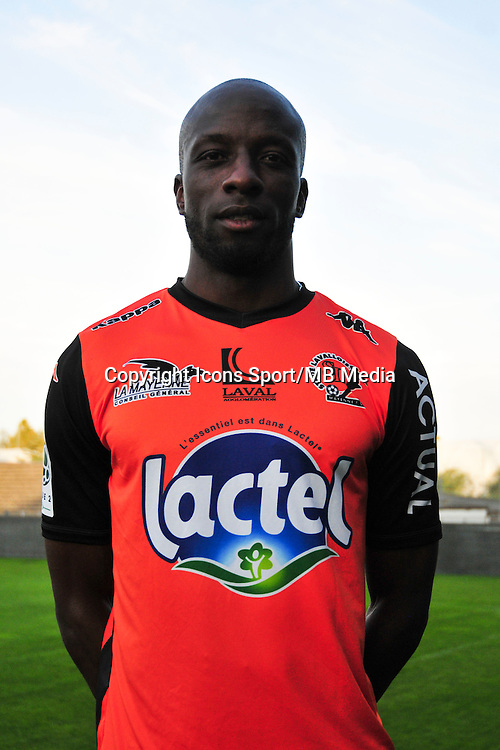 Djibril Konate - 17.09.2014 - Photo officielle Laval - Ligue 2 2014/2015<br /> Photo : Philippe Le Brech / Icon Sport