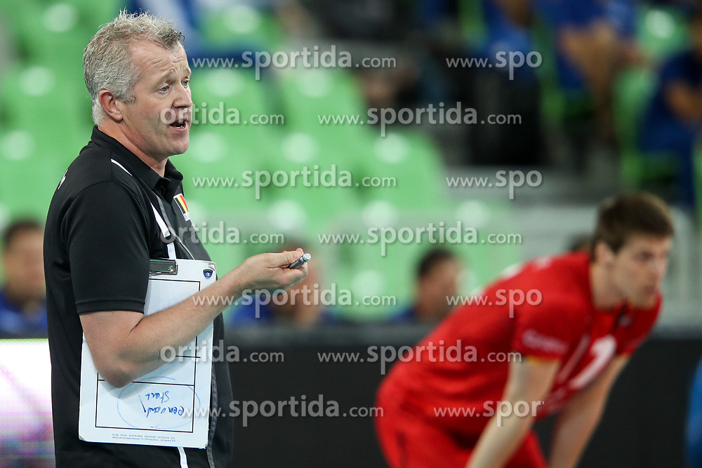 Vital Heynen, head coach of Belgium, during volleyball match between National teams of Slovenia and Belgium in 2nd Round of 2018 FIVB Volleyball Men's World Championship qualification, on May 28, 2017 in Arena Stozice, Ljubljana, Slovenia. Photo by Morgan Kristan / Sportida