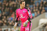 Chesterfield goalkeeper Thorsten Stuckmann during the EFL Sky Bet League 1 match between Chesterfield and Bury at the Proact stadium, Chesterfield, England on 18 February 2017. Photo by Aaron  Lupton.