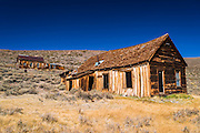 Weathered houses, Bodie State Historic Park, California USA