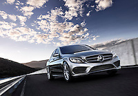 CGI Mercedes C-class with background plate
