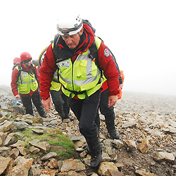 It was a busy Reek Sunday for the Mountain Rescue Teams...Pic Conor McKeown