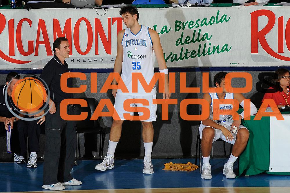 DESCRIZIONE : Bormio Torneo Internazionale Maschile Diego Gianatti Italia Repubblica Ceca Italy Czech Republic  <br /> GIOCATORE : Carlo Recalcati Andrea Bargnani Marco Belinelli<br /> SQUADRA : Italia Italy<br /> EVENTO : Raduno Collegiale Nazionale Maschile <br /> GARA : Italia Repubblica Ceca Italy Czech Republic<br /> DATA : 18/07/2009 <br /> CATEGORIA : ritratto<br /> SPORT : Pallacanestro <br /> AUTORE : Agenzia Ciamillo-Castoria/G.Ciamillo