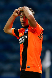 Jake Forster-Caskey of Brighton looks dejected after his 2nd half goal is disallowed - Photo mandatory by-line: Rogan Thomson/JMP - 07966 386802 - 21/10/2014 - SPORT - FOOTBALL - Huddersfield, England - The John Smith's Stadium - Huddersfield Town v Brighton & Hove Albion - Sky Bet Championship.