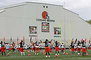 BEREA, OH - AUGUST 3:  The Cleveland Browns doing calisthenics during training camp at the Cleveland Browns Training and Administrative Complex on August 3, 2006 in Berea, Ohio. ©Paul Anthony Spinelli