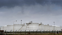 Petroleum storage tanks sit at the Petroplus Holdings AG oil refinery,.at the Port of Antwerp, in Antwerp, Belgium, Friday, Jan. 6, 2012. (Photo © Jock Fistick)