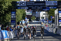 September 16, 2017 - Bergen, Norway - BERGEN, NORWAY - SEPTEMBER 16 : Team Sky pictured during the reconnaisance of the Team Time Trial 2017 World Road Championship cycling race on September 16, 2017 in Bergen, Norway, 16/09/2017 (Credit Image: © Panoramic via ZUMA Press)