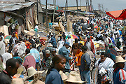"ADDIS ABABA, ETHIOPIA..The ""Mercato"", biggest market between Cairo and Cape Town..(Photo by Heimo Aga)"