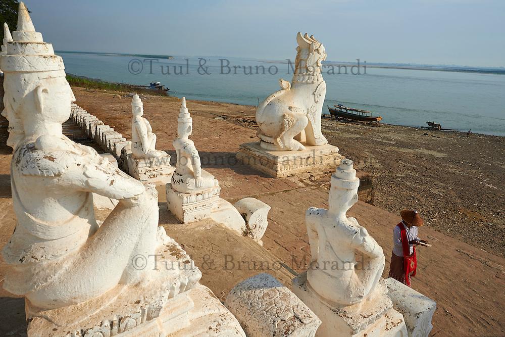 Myanmar (ex Birmanie), Mandalay, Site de Mingun, Paya Settawya, riviere Ayeryarwady  // Myanmar (Burma), Mandalay, Mingun site, Paya Settawya, Ayeryarwady river