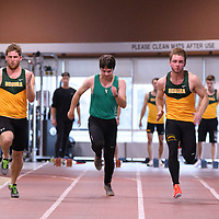 Men's 60m during the Cougars Track&Field Intersquad on November 19 at Centre for Kinesiology, Health and Sport. Credit: Arthur Ward/Arthur Images