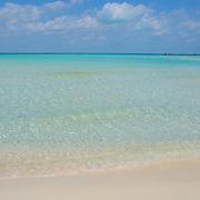 Wave detail Playa norte. Isla Mujeres. Quintana Roo. Mexico.
