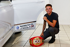 IBF Youth Bantamweight Champion Lee McGregor seals a deal, Dunfermline, 1 August 2018