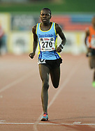 JOHANNESBURG, SOUTH AFRICA - MARCH 22: Ryan Mphahlele of Tembisa Athletic Club wins the mens mile during the ASA Speed Series 4 at Germiston Stadium on March 22, 2017 in Johannesburg, South Africa. (Photo by Roger Sedres/ImageSA)