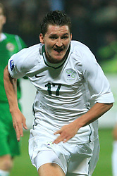 Andraz Kirm (17) during the fourth round qualification game of 2010 FIFA WORLD CUP SOUTH AFRICA in Group 3 between Slovenia and Northern Ireland at Stadion Ljudski vrt, on October 11, 2008, in Maribor, Slovenia.  (Photo by Vid Ponikvar / Sportal Images)