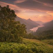 Last Light over Loch Leven, Lochaber, Highlands, Scotland.