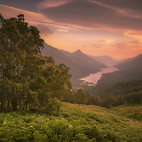 Last Light over Loch Leven, Lochaber, Highlands, Scotland.