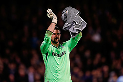 Julian Speroni of Crystal Palace celebrates after Crystal Palace win the match 2-1 - Photo mandatory by-line: Rogan Thomson/JMP - 07966 386802 - 06/04/2015 - SPORT - FOOTBALL - London, England - Selhurst Park - Crystal Palace v Manchester City - Barclays Premier League.