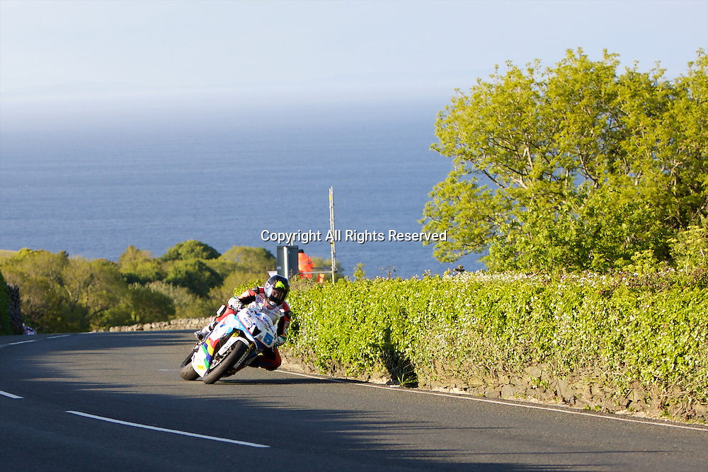 08.06.2015. Douglas, Isle of Man. 2015 Isle of Man TT Races. Bruce Anstey in action during the TT Supersport race.