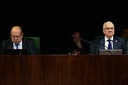 21.08.2018 - BRASÍLIA, DF - Os ministros Gilmar Mendes e Edson Fachin, durante sessão da segunda turma do supremo tribunal federal (STF). Entre outras pautas está a decisão de manter a liberdade concedida ao ex-ministro José Dirceu. Nesta terça-feira (21), em Brasília. ( Foto: Walterson Rosa / FramePhoto )