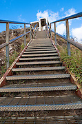 These steps greet you as your last climb when you get to the top of Diamond Head in Honolulu, Hawaii.