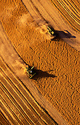 Image of wheat harvesting in the Palouse, Waitsburg, eastern Washington, Pacific Northwest, property released