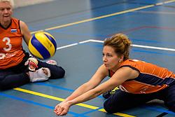22-09-2017 NED: Training zitvolleybalsters Oranje 2017-2018, Leersum<br /> Nederland bereidt zich voor op het komende EK zitvolleybal / Anke van der Blij - de Vos #9