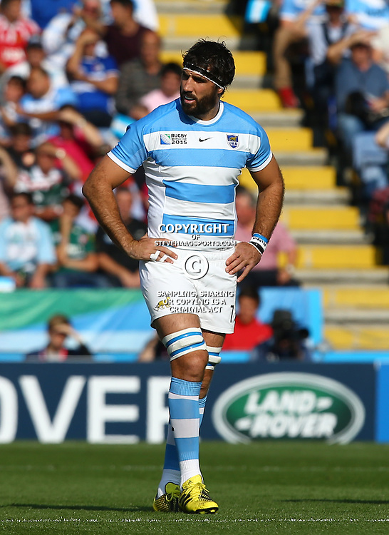 LEICESTER, ENGLAND - OCTOBER 04: Juan Martin Fernandez Lobbe of Argentina during the Rugby World Cup 2015 Pool C match between Argentina and Tonga at Leicester City Stadium on October 04, 2015 in Leicester, England. (Photo by Steve Haag/Gallo Images)