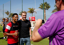 Korey Smith of Bristol City poses for pictures with fans during the opening training session - Mandatory by-line: Matt McNulty/JMP - 20/07/2017 - FOOTBALL - Tenerife Top Training Centre - Costa Adeje, Tenerife - Pre-Season Training