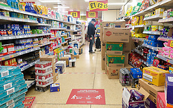 © Licensed to London News Pictures. 05/05/2020. London, UK. High quantities of stock in Iceland, Haringey in north London during the coronavirus lockdown. Photo credit: Dinendra Haria/LNP