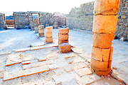 Shivta (Sobota) is an archeological site in the Negev Desert of Israel. Long considered a classic Nabataean town and terminal on the ancient spice route, archeologists are now considering the possibility that the town was actually a Byzantine agricultural colony and a way station for pilgrims en route to the Santa Catarina, Egypt, located on the supposed site of Mount Sinai. The new assessment of Shivta is based on an analysis of the irrigation system found at the site, which bears parallels to Byzantine structures elsewhere. Until now, the preponderance of Byzantine ruins were believed to be the remains of a monastic community that established itself on the ruins of an earlier Nabatean town. Shivta was declared a world heritage site by UNESCO on June 2005.