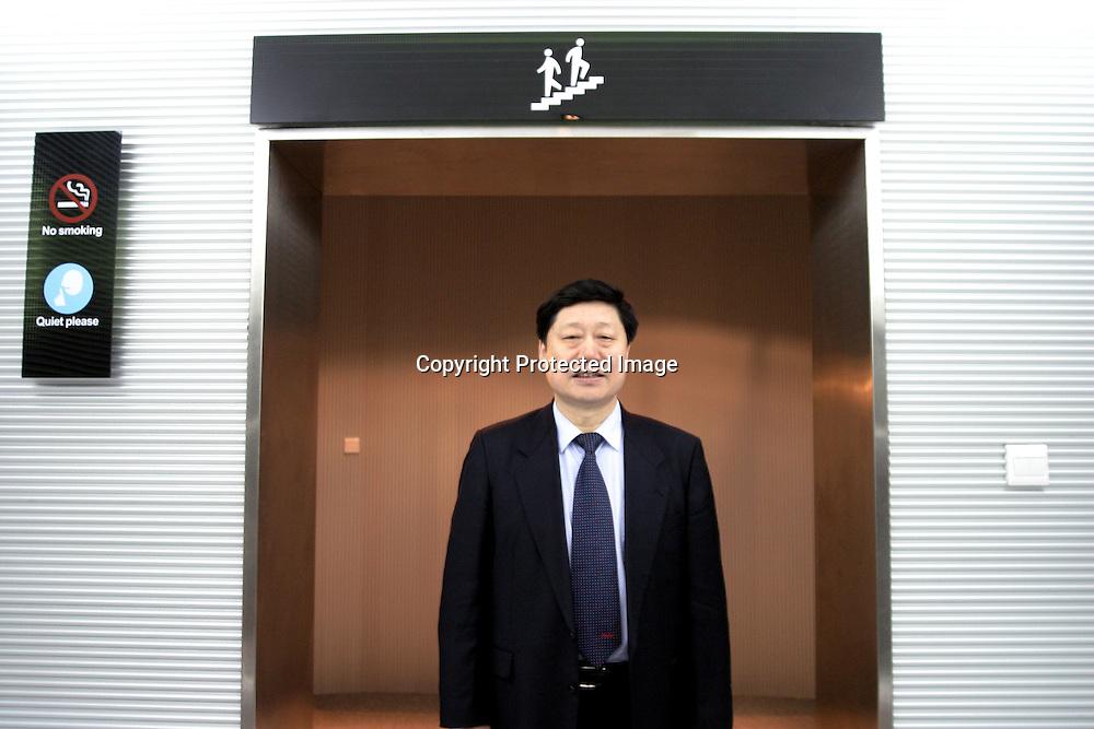 QINGDAO, MARCH 2005 : Zhang Ruimin, CEO of Hai'er electronics, in the heardquarters of his company.