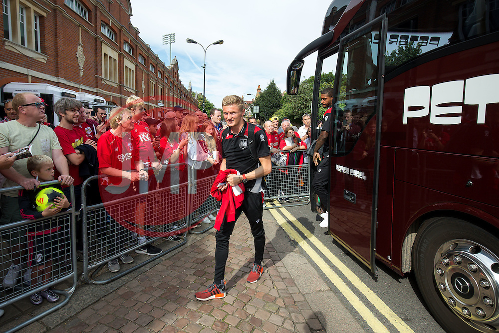 Taylor Moore of Bristol City arrives at the ground - Rogan Thomson/JMP - 24/09/2016 - FOOTBALL - Craven Cottage Stadium - London, England - Fulham v Bristol City - Sky Bet EFL Championship.