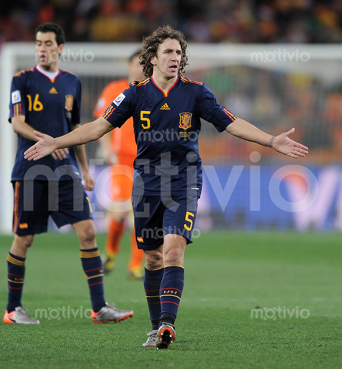 FUSSBALL WM 2010  FINALE   11.07.2010 Holland - Spanien Carles PUYOL (Spanien)