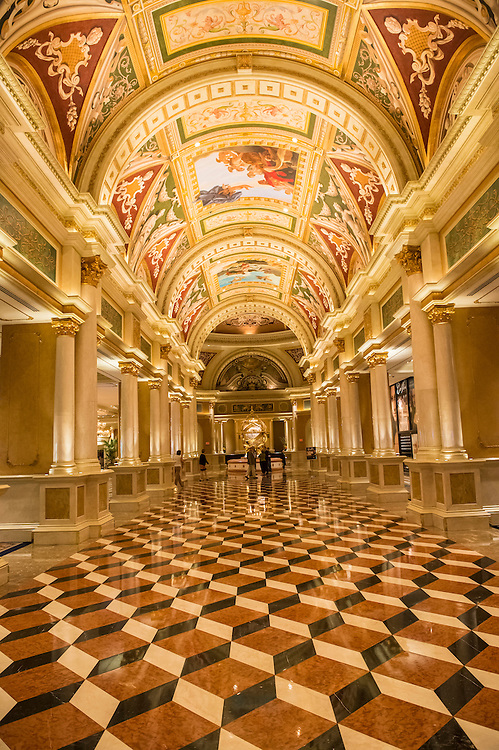 LAS VEGAS - NOVEMBER 08: the interior of Venetian Hotel on November 08, 2012 in Las Vegas. Las Vegas in 2012 is projected to break the all-time visitor volume record of 39-plus million visitors