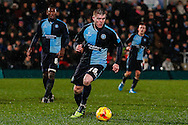 Alfie Mawson of Wycombe Wanderers during the Sky Bet League 2 match at Adams Park, High Wycombe<br /> Picture by David Horn/Focus Images Ltd +44 7545 970036<br /> 26/12/2014