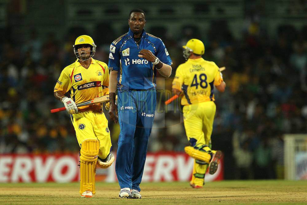 Kieron Pollard during match 3 of the NOKIA Champions League T20 ( CLT20 )between the Chennai Superkings and the Mumbai Indians held at the M. A. Chidambaram Stadium in Chennai , Tamil Nadu, India on the 24th September 2011..Photo by Ron Gaunt/BCCI/SPORTZPICS