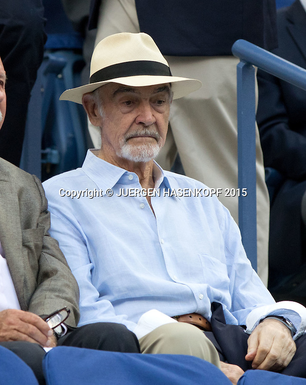 US Open Feature,Sir Sean Connery,VIP Gast in der Ehrenloge,<br /> <br /> <br /> Tennis - US Open 2015 - Grand Slam ITF / ATP / WTA -  Flushing Meadows - New York - New York - USA  - 11 September 2015.