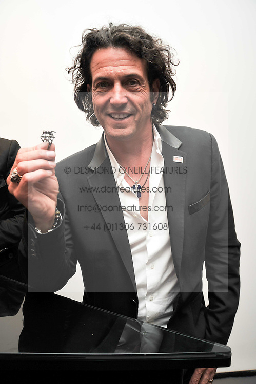 STEPHEN WEBSTER at a reception to celebrate the launch of  Stephen Webster's unique Mosquito ring funded by the Malaria Awareness Campaign held at Stephen Webster, 93 Mount Street, London on 15th July 2009.